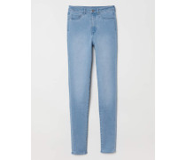 Super Skinny High Jeggings - Hellblau