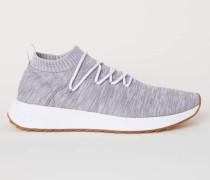 Sneaker in Fully-Fashion - Hellgraumeliert