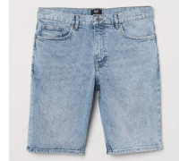 Jeansshorts Slim Fit - Hellblau Washed out