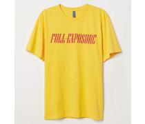 T-Shirt mit Druck - Gelb/Full Exposure