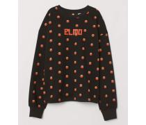 Sweatshirt mit Druck - Schwarz/SesamstraBe