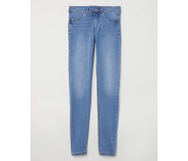 Feather Soft Low Jeggings - Blau