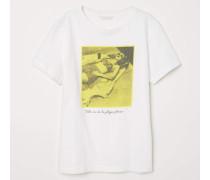 T-Shirt mit Druck - WeiB