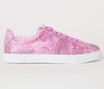 Sneaker - Rosa/Paisleymuster