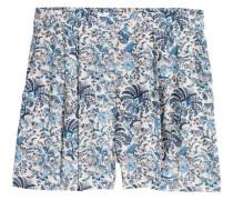 Weite Shorts - Hellbeige/Geblümt