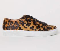 Gemusterte Sneaker - Hellbraun/Leopardenmuster