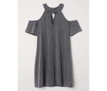 Cold-Shoulder-Kleid - Dunkelgrau