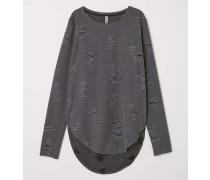 Trashed Shirt - Dunkelgrau