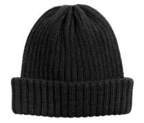 Gerippte Mütze - Schwarz