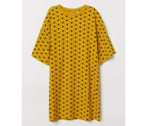 Oversize-T-Shirt mit Druck - Gelb/Micky Maus
