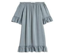 Off-Shoulder-Kleid - Graublau