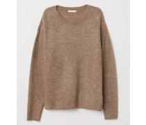 Pullover - Beigemeliert
