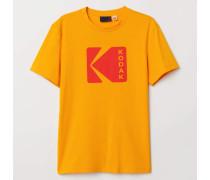 T-Shirt mit Druck - Gelb/Kodak