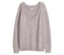 Pullover mit V-Ausschnitt - Grau