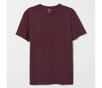 T-Shirt mit Rundhals Slim Fit - Weinrot