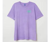 T-Shirt mit Druck - Helllila/Pawn shop