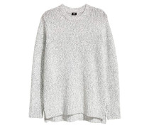 Pullover - WeiB/Grau meliert