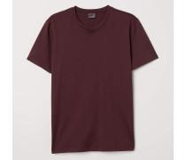 T-Shirt aus Premium Cotton - Weinrot