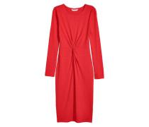 Kleid mit Knotendetail - Rot