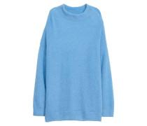 Pullover aus Mohairmix - Hellblau