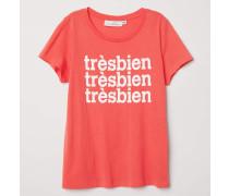 T-Shirt mit Druck - Rot/Trèsbien