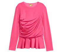 Drapiertes Shirt - Rosa