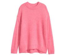 Pullover aus Mohairmix - Rosa