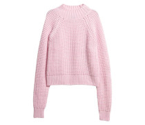 Gerippter Pullover - Hellrosa