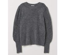Pullover aus Wollmix - Graumeliert
