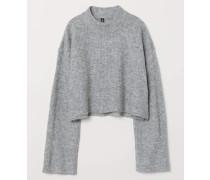 Pullover mit Turtleneck - Graumeliert