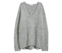 Pullover aus Wollmischung - Grau