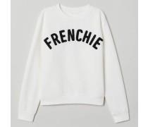 Sweatshirt mit Druck - WeiB/Frenchie