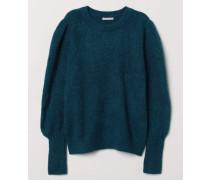 Pullover aus Wollmix - Petrol