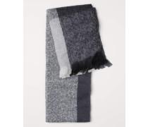 Schal mit Colourblocking - Schwarz/Dunkelgrau