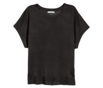 Feinstrick-Shirt - Dunkelgrau