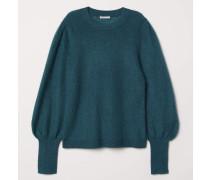 Pullover aus Mohairmischung - Dunkelgrün