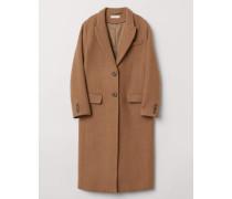 Mantel aus Wollmischung - Camel