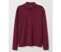 Poloshirt Regular Fit - Weinrot