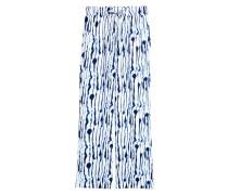Weite Hose - WeiB/Blau gemustert