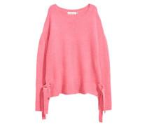 Pullover mit Schnürung - Rosa
