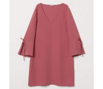 Kurzes Kleid - Dunkelrosa