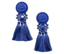 Ohrringe mit Quasten - Kornblumenblau