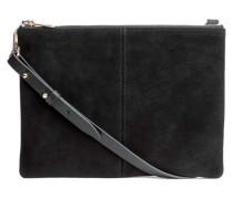Tasche mit Velourslederdetails - Schwarz