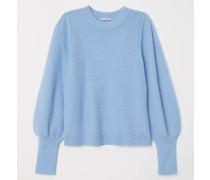 Pullover aus Mohairmischung - Hellblau