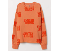 Sweatshirt mit Druck - Orange