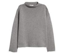 Pullover in Strukturstrick - Grau