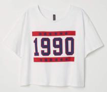 Kurzes T-Shirt - WeiB/1990