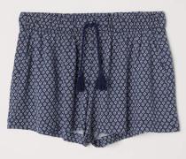 Gemusterte Shorts - Dunkelblau