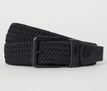 Elastischer Stoffgürtel - Schwarz