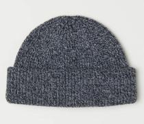 Gerippte Mütze - Graumeliert